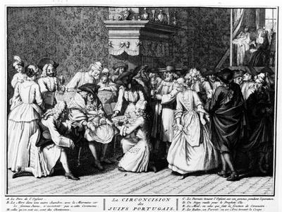 Circumcision Ceremony Among Portuguese Jews, 1725