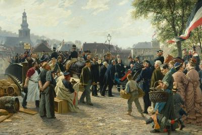 Arrival of King Wilhelm I of Prussia in Saarbrücken on 9 August 1870, 1877