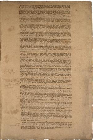 Constitution, First Printing, Printed by Dunlap and Claypoole, 17-19 September 1787