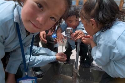 Ladakhi Schoolchildren, Shey, Ladakh, India