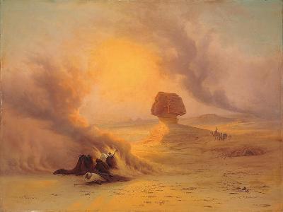 A Caravan Caught in the Sinum Wind Near Gizah