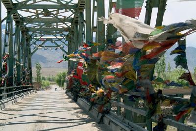 Bridge across the Indus River, Choglamsar, Ladakh, India