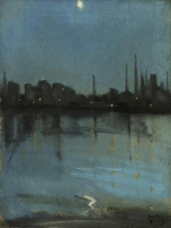 Battersea and the Thames from Chelsea, C.1890