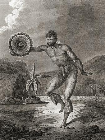A Tattooed Dancer in Traditional Costume, Hawaii, 1778