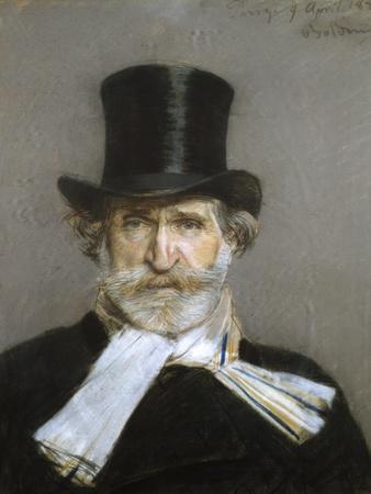 Portrait of Giuseppe Verdi, 1880s