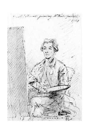 Mr Stewart Painting Mr West's Portrait, 1783