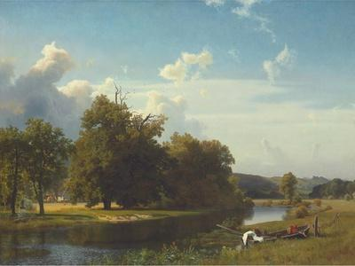 A River Landscape, Westphalia, 1855