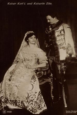 Ak Kaiser Karl I. Und Kaiserin Zita Von Ungarn, Npg 6123