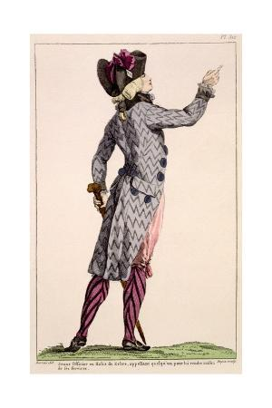 Young Officer in a Zebra Coat, Print Made by Dupin, 1789