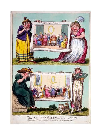 Caricature Ornaments for Screens, 1800