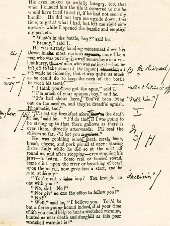 Page Proof from Great Expectations, Showing Charles Dickens's Hand Written Corrections. Charles…