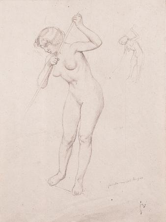 Figure Study for 'The Slaying of Orpheus'