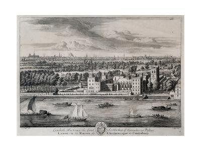 Lambeth, His Grace the Archbishop of Canterbury's Palace, Engraved by I. Kip