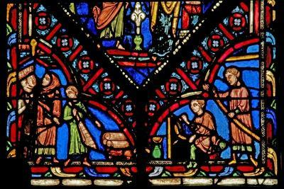 Window W0 Depicting Five Artisan Donors