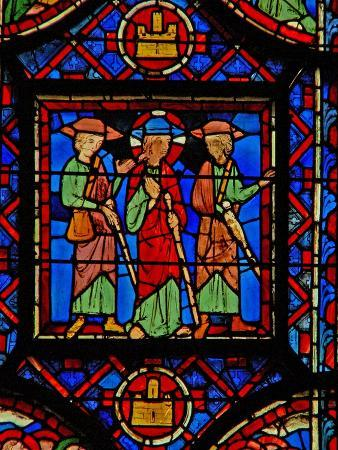 Window W8 the Resurrection Cycle - the Road to Emmaus