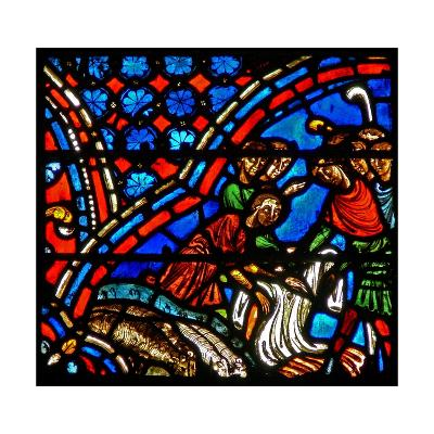 Window W9 Depicting Joseph's Brothers Take the Coloured Coat