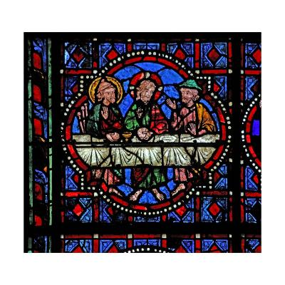 Window W02 Depicting a Resurrection Scene: the Supper at Emmaus