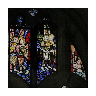 Window S1 Depicting Musician Angels with Lutes