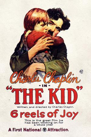 The Kid Movie Charlie Chaplin Jackie Coogan Plastic Sign
