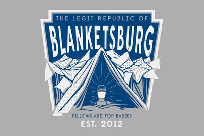 The Legit Republic of Blanketsburg Snorg Tees Plastic Sign