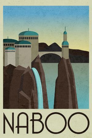 Naboo Retro Travel Plastic Sign