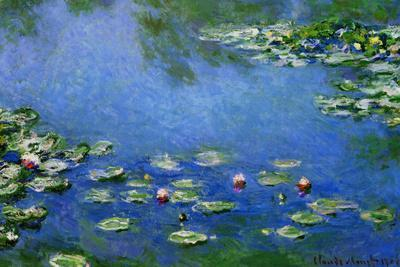 Claude Monet Water Lilies Nympheas Plastic Sign
