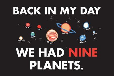 Nine Planets Snorg Tees Plastic Sign