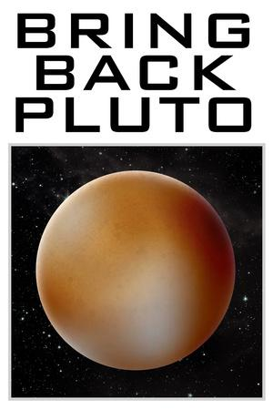 Bring Back Pluto Science Humor Plastic Sign