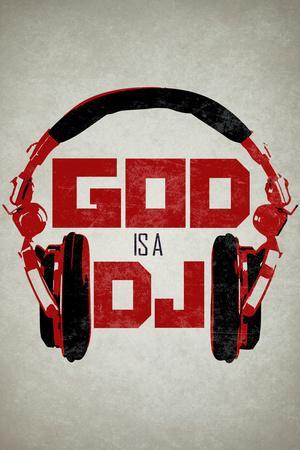 God is a DJ Music Plastic Sign