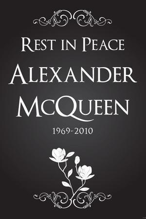 Alexander McQueen (Rest in Peace) Plastic Sign
