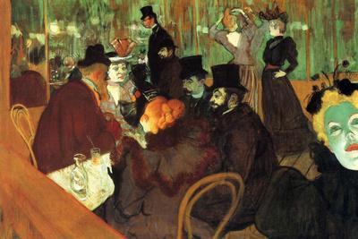 Henri de Toulouse-Lautrec In the Moulin Rouge Plastic Sign