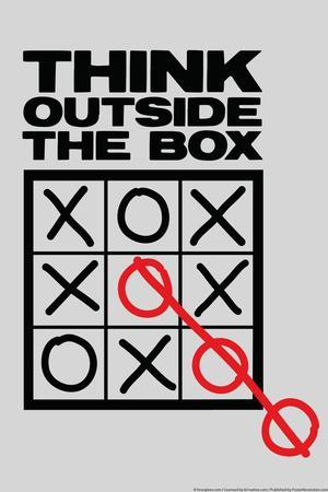 Think Outside The Box Snorg Tees Plastic Sign