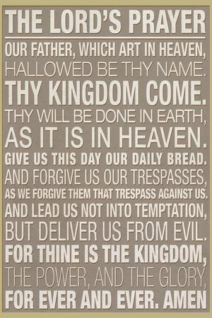 The Lord's Prayer Religious Plastic Sign