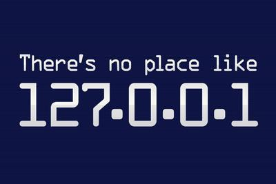 Theres No Place Like 127.0.0.1 Localhost Computer Print Plastic Sign