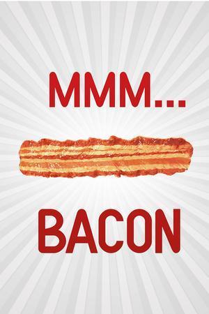 MMM... Bacon Plastic Sign
