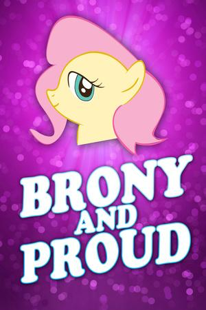Brony and Proud Pony Plastic Sign
