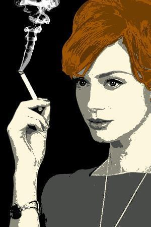 Joan Holloway Smoking Pop Television Plastic Sign