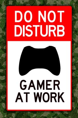 Do Not Disturb Xbox Gamer at Work Video Game Plastic Sign