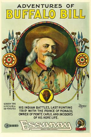 The Adventures of Buffalo Bill Movie Plastic Sign