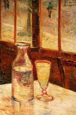Vincent Van Gogh Still Life with Absinthe Plastic Sign