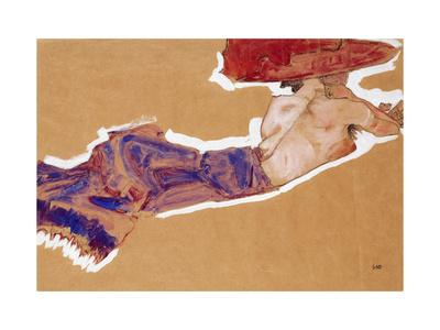 Reclining Semi-Nude with Red Hat