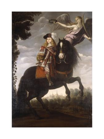 An Equestrian Portrait of King Charles II