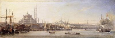 The Golden Horn with The Suleimaniye and The Faith Mosques, Constantinople