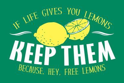 Free Lemons Snorg Tees Plastic Sign