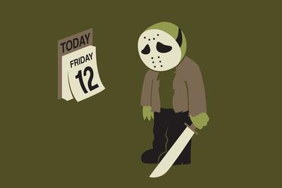 Friday the 12th Snorg Tees Plastic Sign