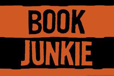Book Junkie Plastic Sign