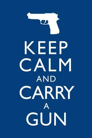 Keep Calm and Carry A Gun Plastic Sign
