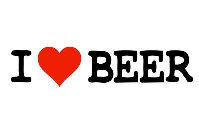 I Heart Beer College Humor Plastic Sign
