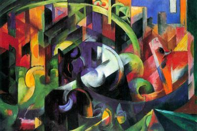 Franz Marc Abstract with Cattle Plastic Sign
