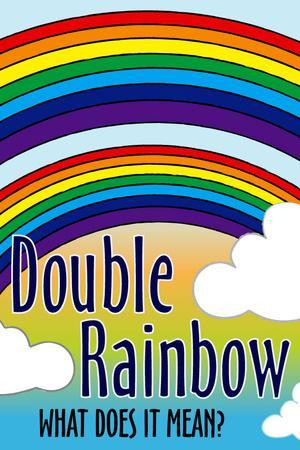 Double Rainbow What Does It Mean Plastic Sign